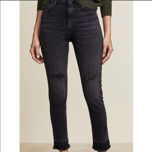 AGOLDE Ruby high rise slim crop straight jeans 24